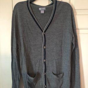 JCP Grey Merino Wool Cardigan